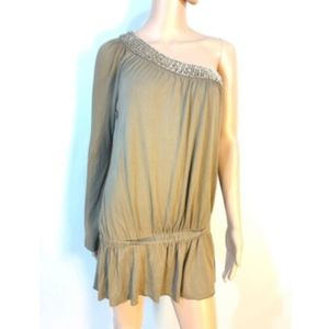 Guess Marciano Tunic Blouse Dress One Shoulder XS